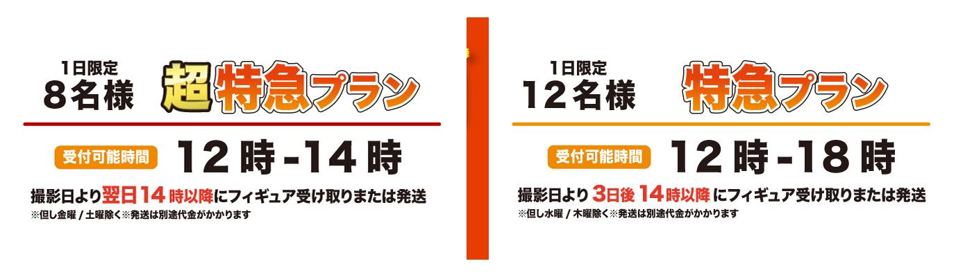 フィギュア特急☆お届けプラン