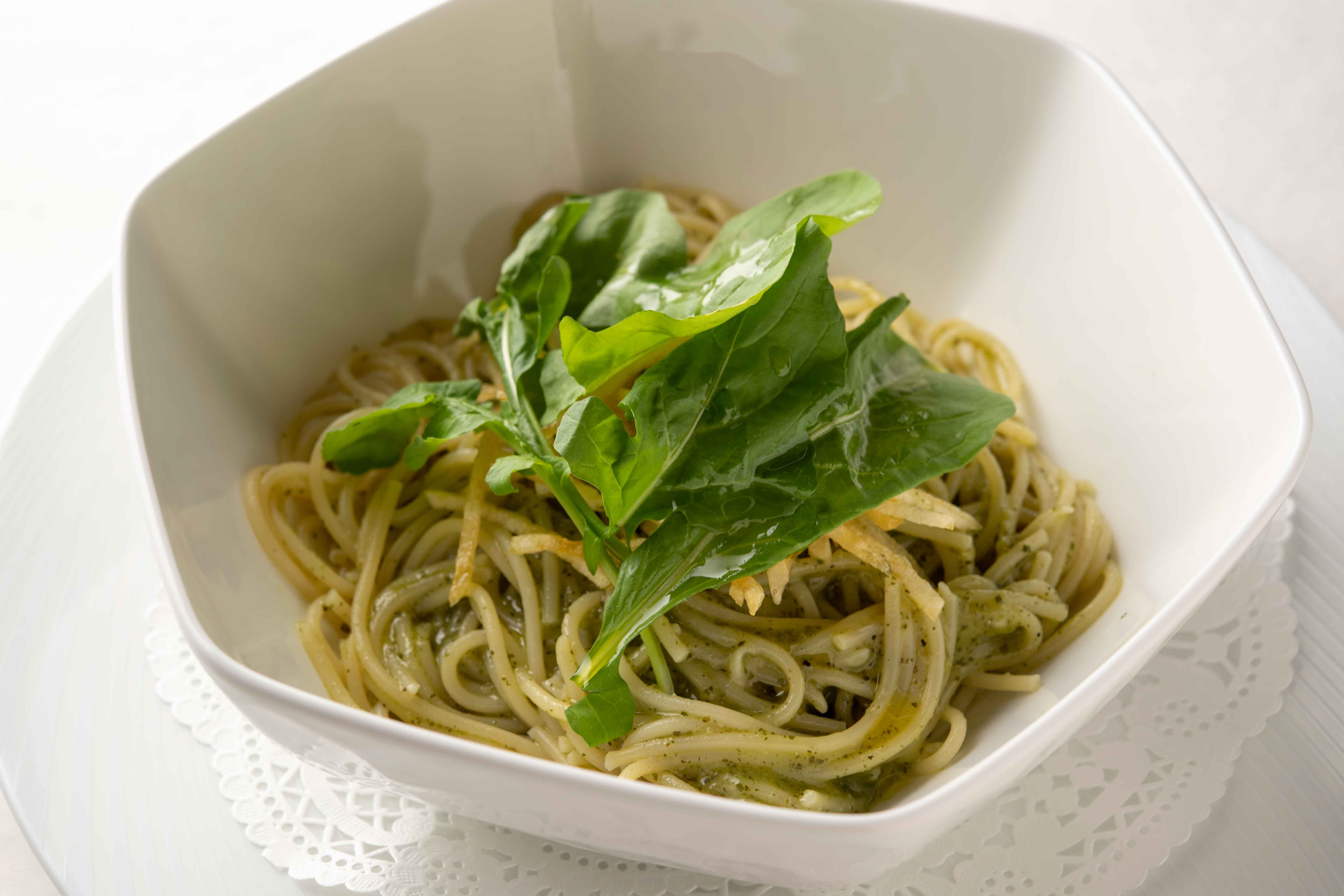 Spaghetti with Genovese sauce