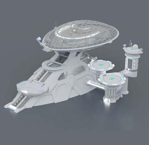 スモールワールズTOKYO『(仮)宇宙センター・未来エリア』宇宙港