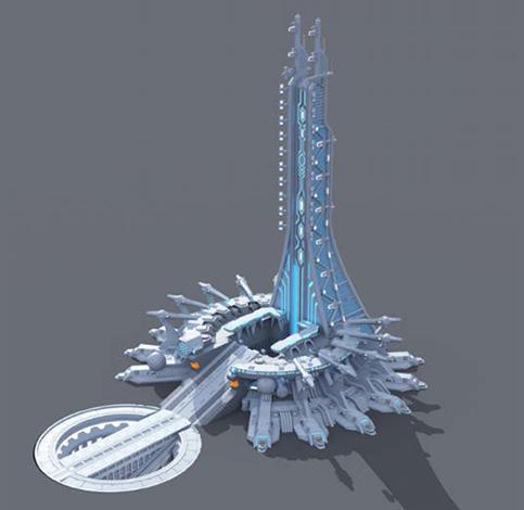 スモールワールズTOKYO『(仮)宇宙センター・未来エリア』発射台